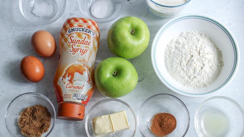 caramel apple pancake soufflé ingredients