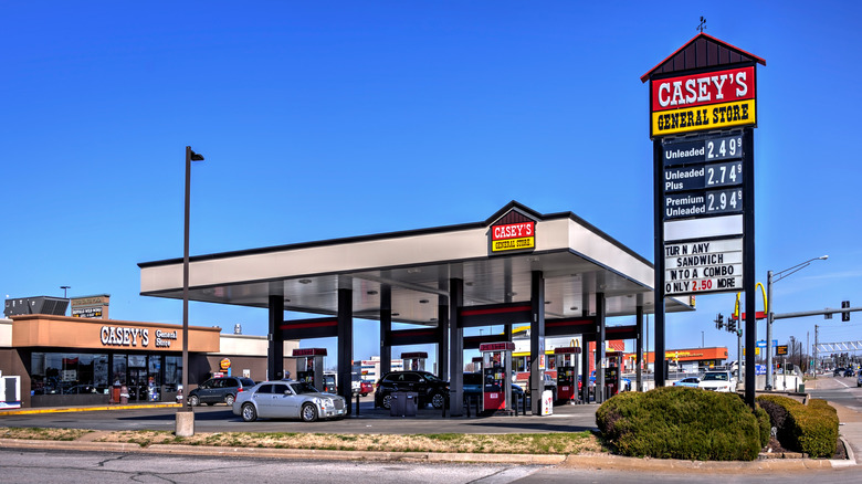 Exterior of a Casey's General Store and gas station