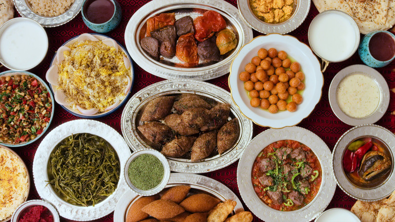 A spread of Turkish food from chef Musa Dagdeviren from Chef's Table