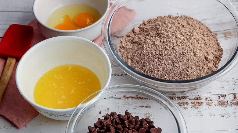 chewy brownie mix cookie ingredients