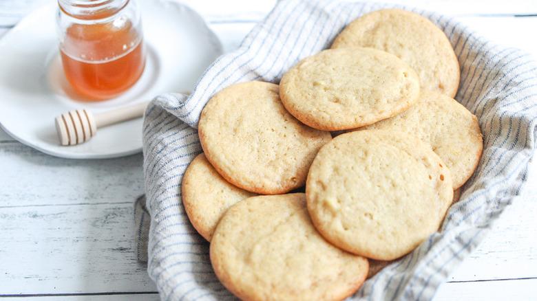 basket of honey cookies