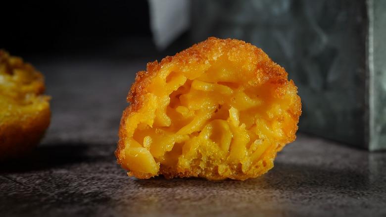 Mac and cheese bites fried