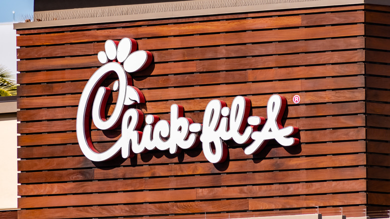 Outside of a Chick-fil-A