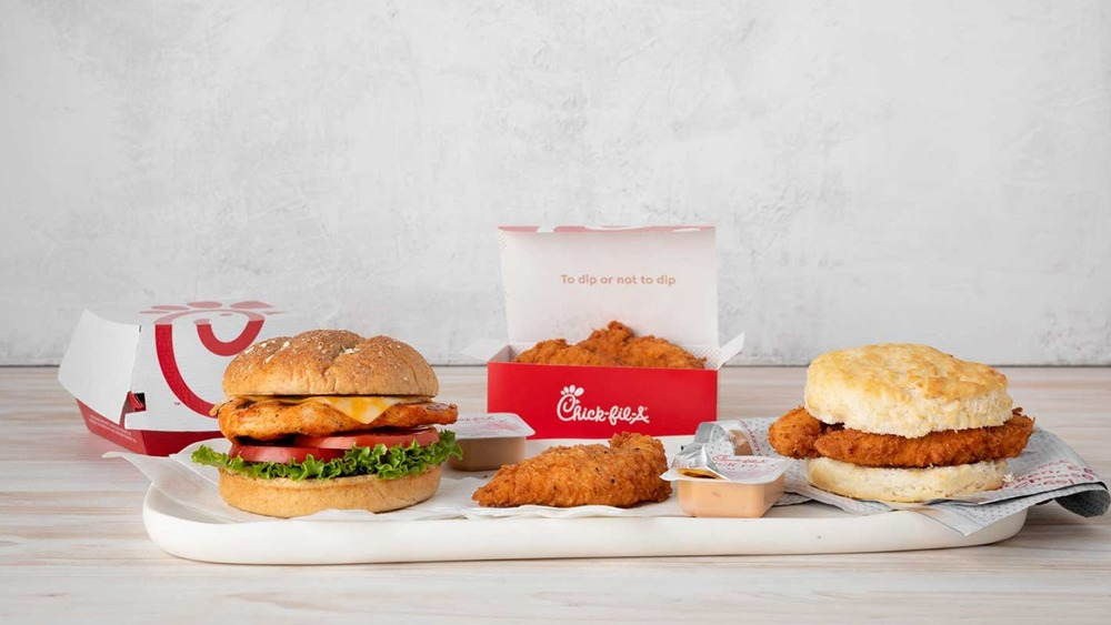 Chick-fil-A spicy sandwiches and tenders