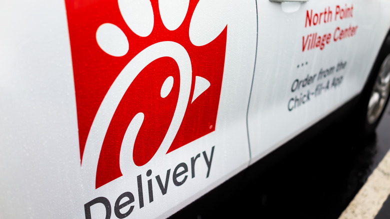 Chick-fil-A delivery car