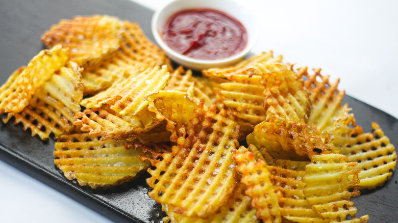 Chick-fil-A Waffle Potato Fries served on a plate