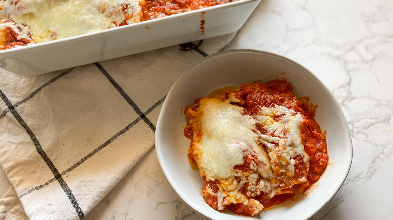 chicken lasagna with red sauce