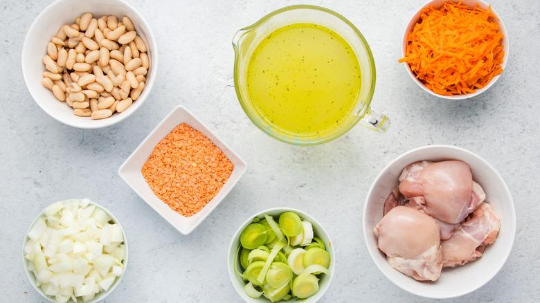 chicken vegetable bean stew ingredients