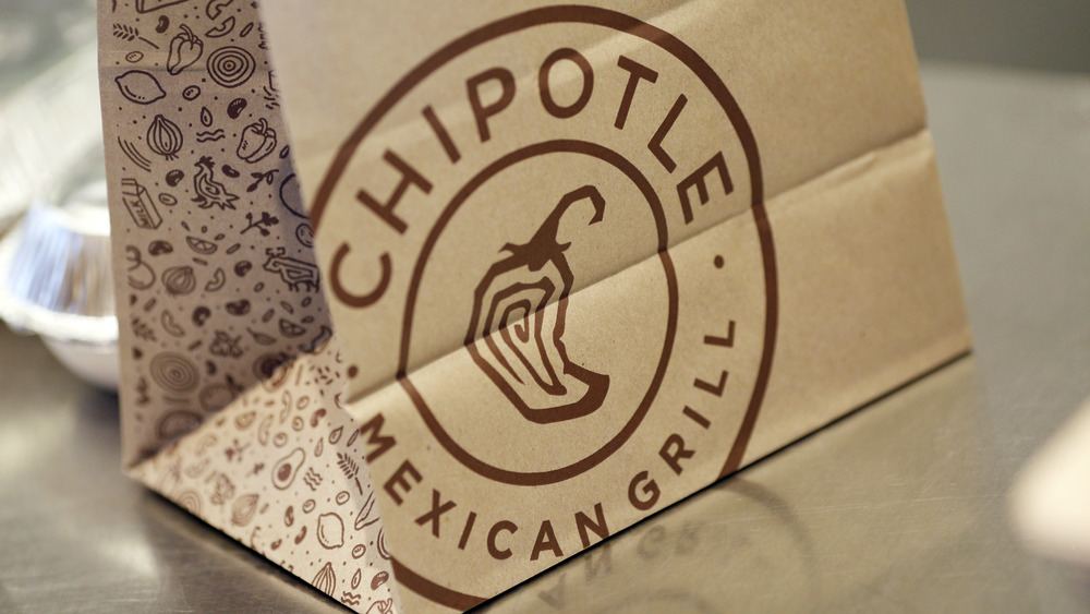 Chipotle to-go bag