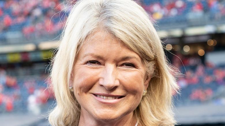 Martha Stewart grinning