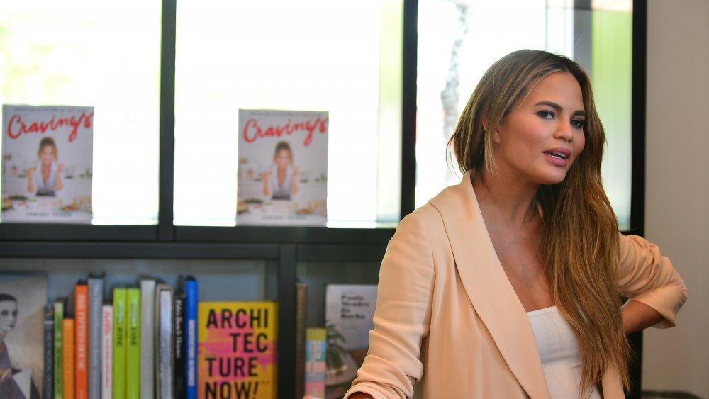 Chrissy Teigen promoting her book