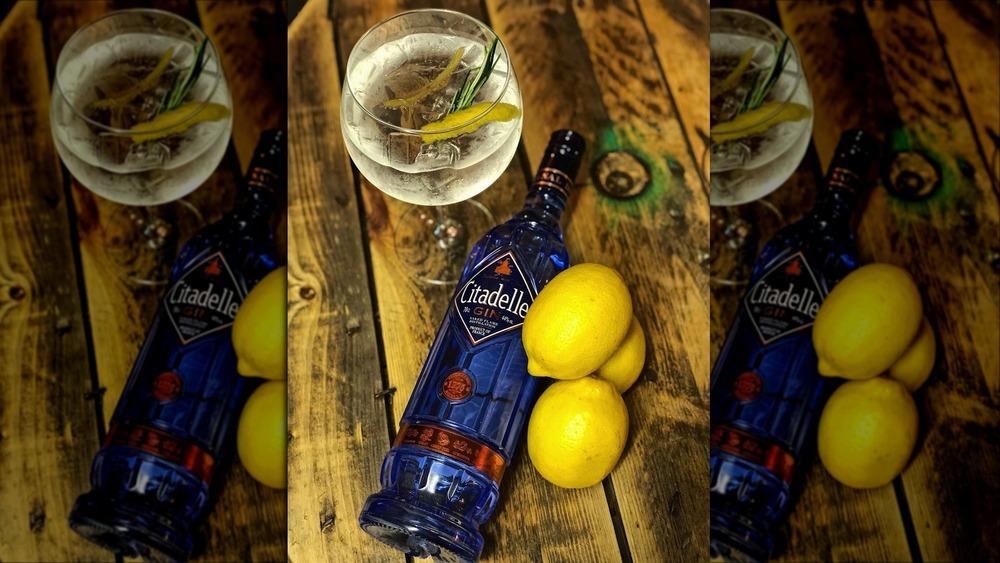 Citadelle Gin with lemons