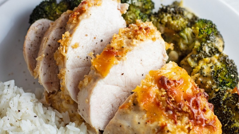 classic chicken Divan with broccoli and rice