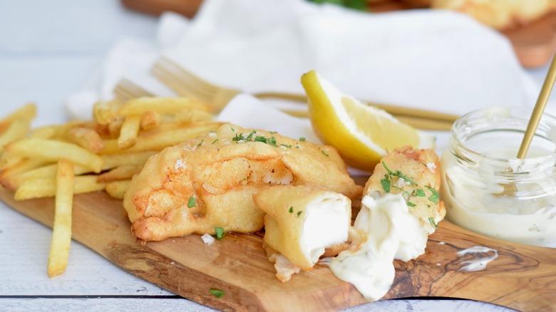 fried salt cod with tartar sauce