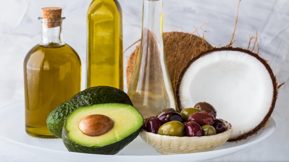 popular oils including avocado and coconut