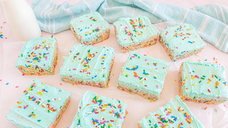 funfetti cookie bars