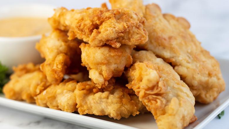 Copycat Chili's chicken crispers on plate