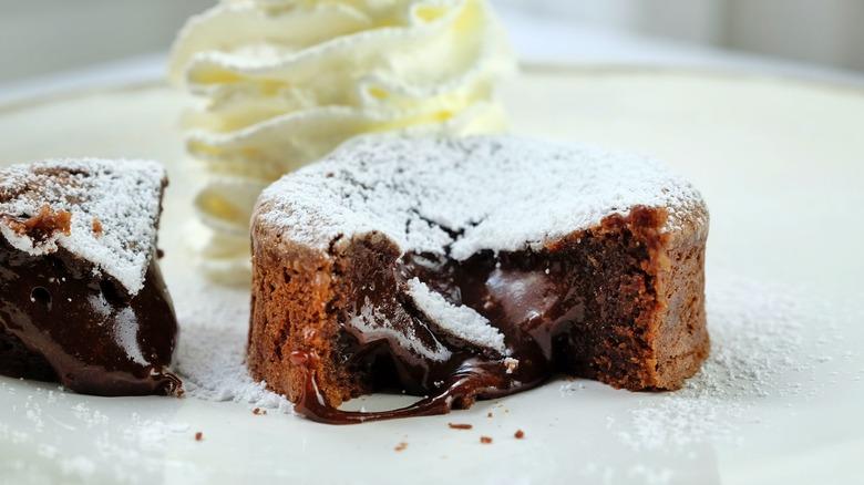 Copycat Domino's chocolate lava crunch cake on plate