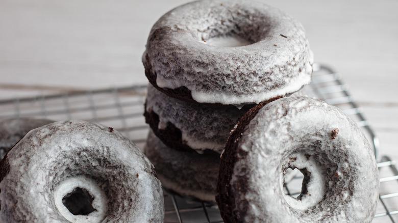 glazed donut on cooling rack