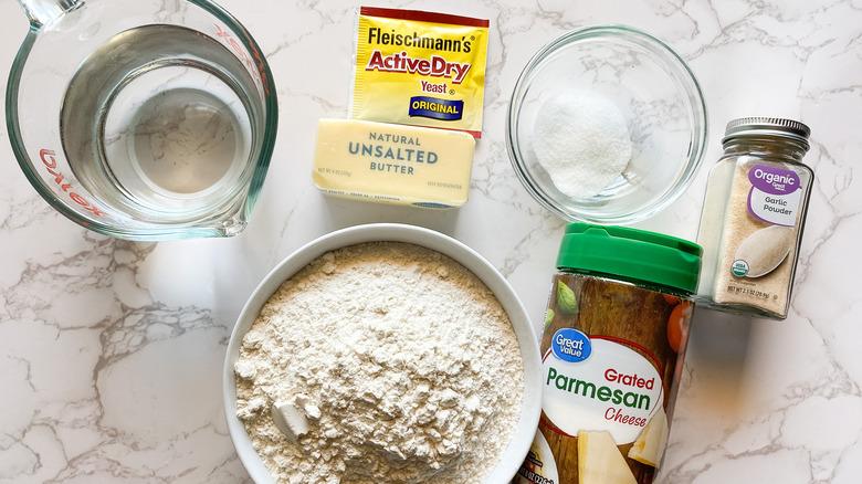 Copycat Little Caesars crazy bread recipe ingredients