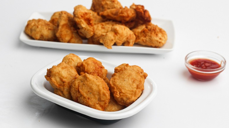 Photo of chicken mcnuggets on a plate