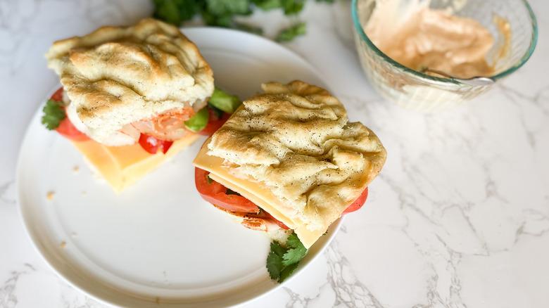 Copycat Panera Chipotle Chicken Avocado Melt sandwich