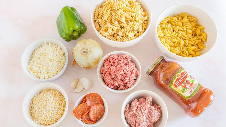ingredients for copycat Pizza Hut cavatini