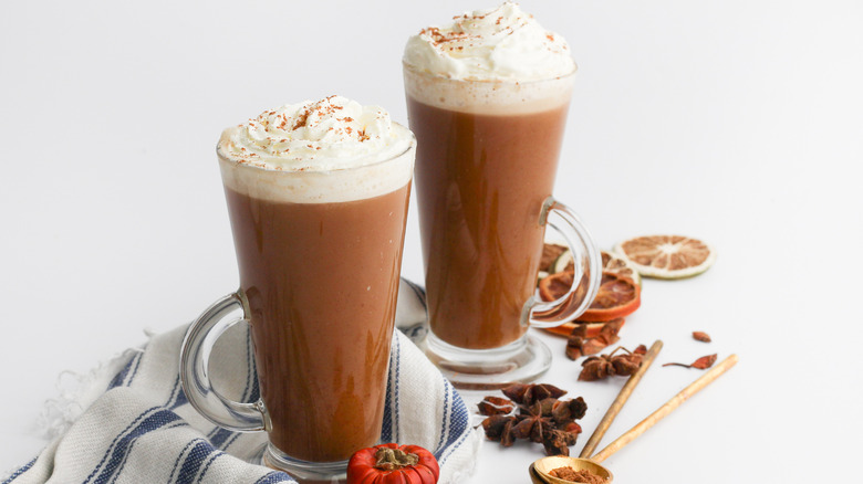 two pumpkin spice lattes