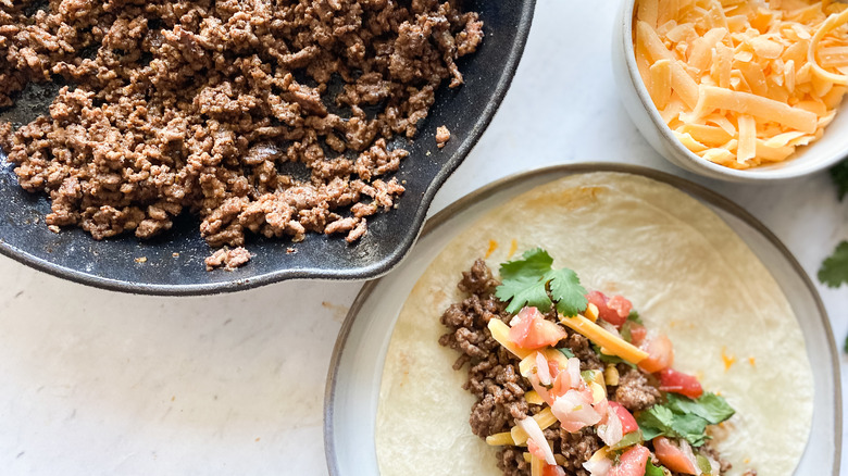copycat Taco Bell beef recipe served