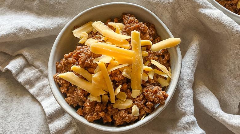 Copycat Wick Fowler's 2 alarm chili recipe in bowl