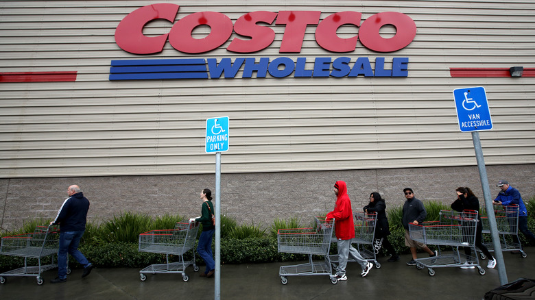 Costco exterior with sign