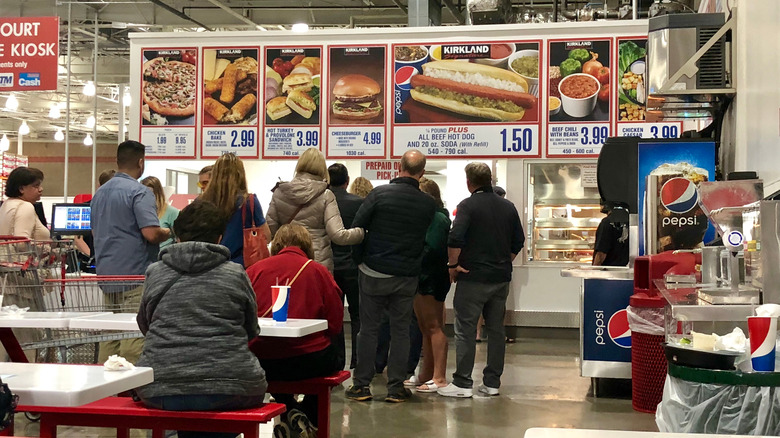 Costco food court line