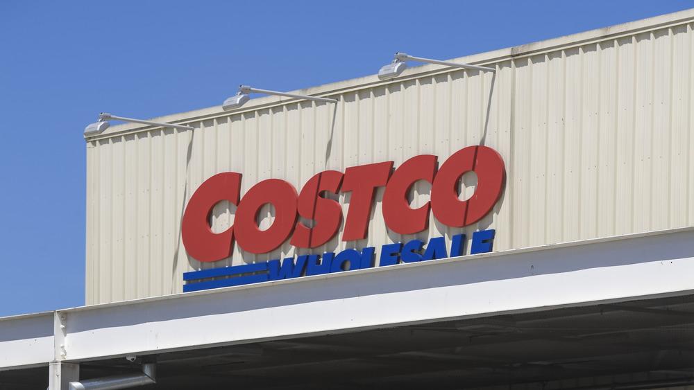 Outside a Costco store