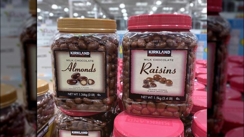 Milk chocolate almonds and raisins from Kirkland