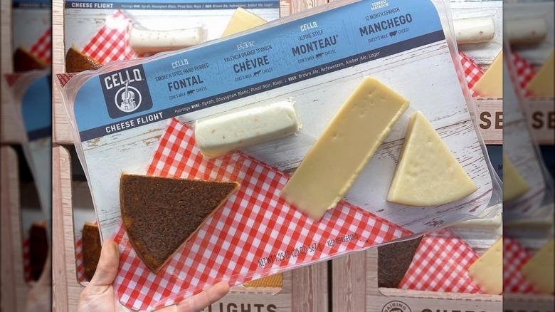 Holding Costco cheese flight