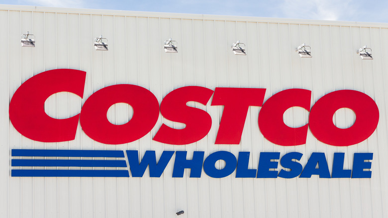 Costco Wholesale sign on building
