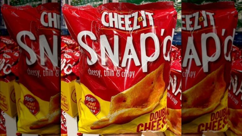 Costco bag of Snap'd Cheez-Its