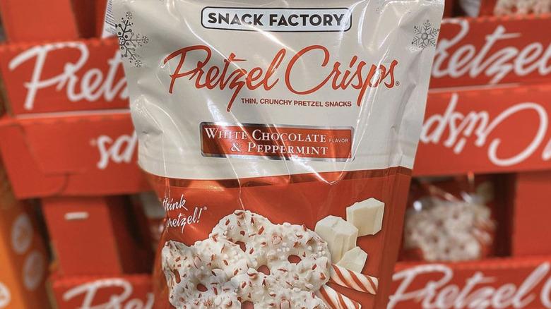 Snack Factory's White Chocolate & Peppermint Pretzel Crisps