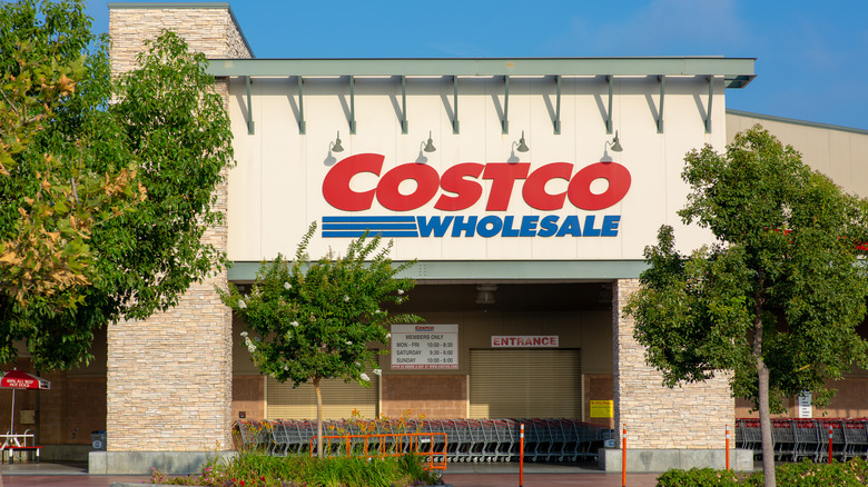 Costco building surrounded by trees