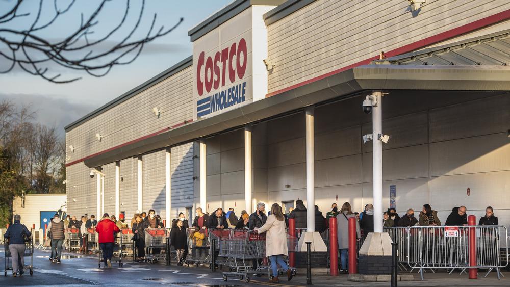 Costco customers waiting