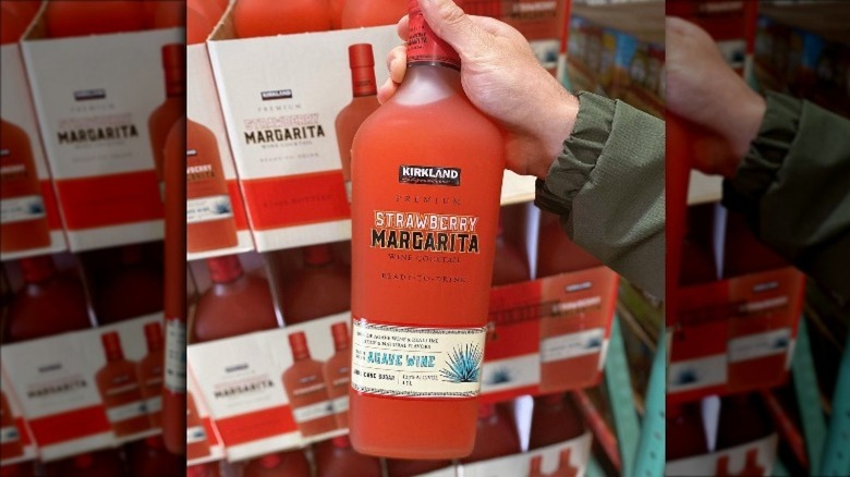 Person holding the new margarita mix