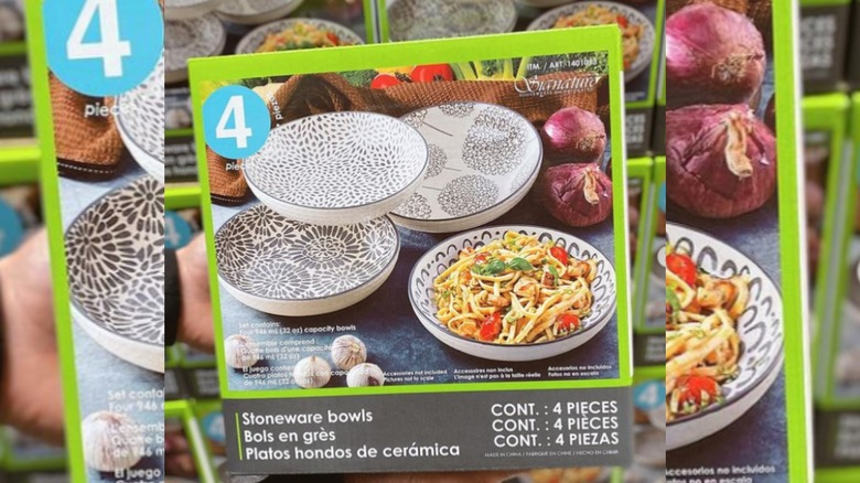 Costco stoneware stacking dinner bowls