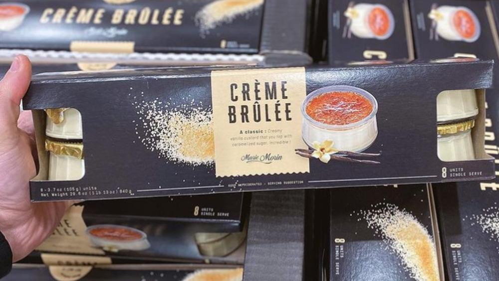 holding Costco crème brûlée