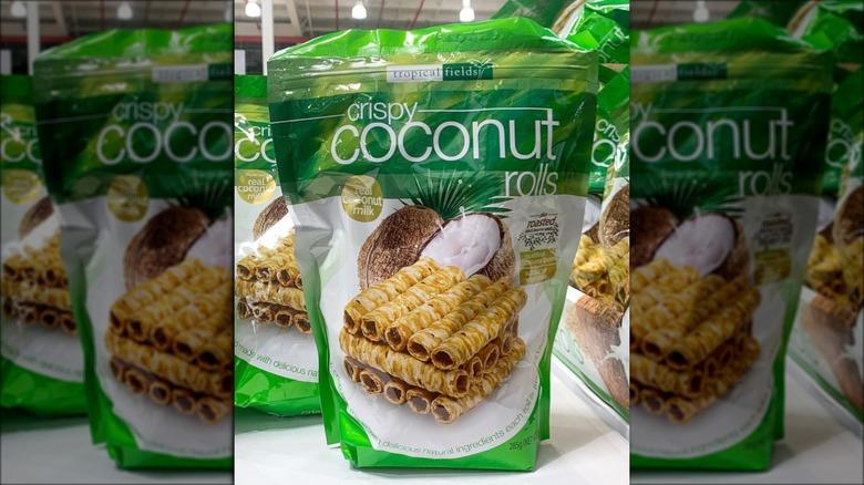 Crispy coconut rolls from Costco