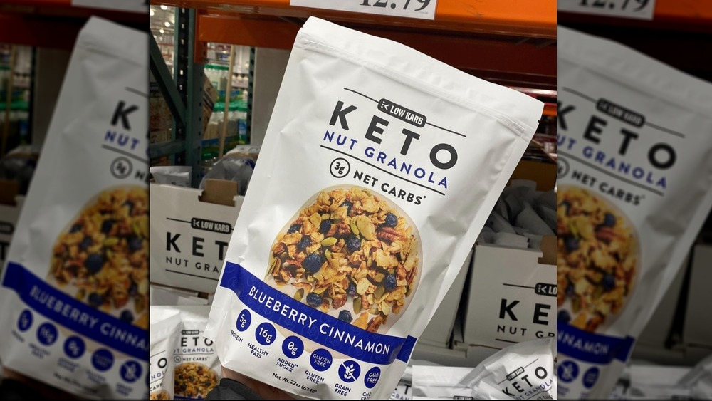 NuTrail low-carb granola at Costco