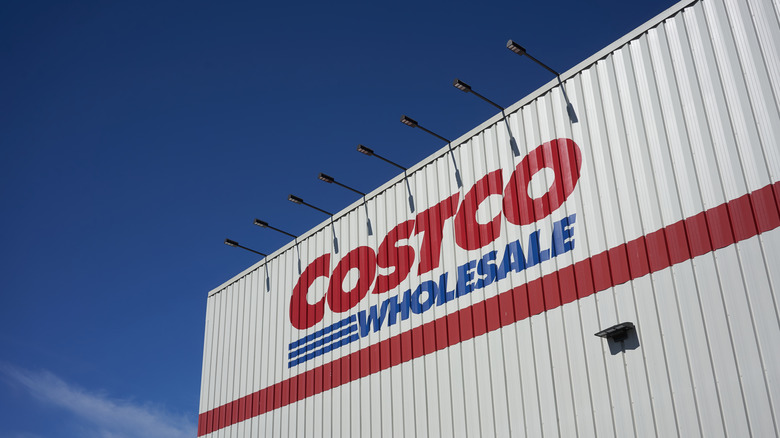 Costco store building against a blue sky