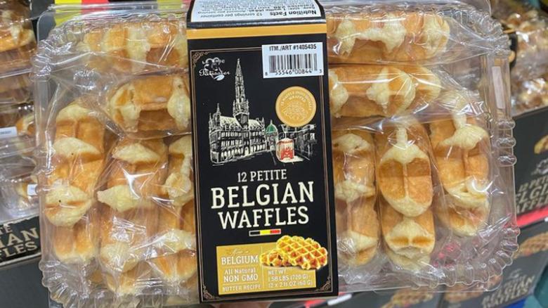 Costco 12-pack of petite Belgian waffles