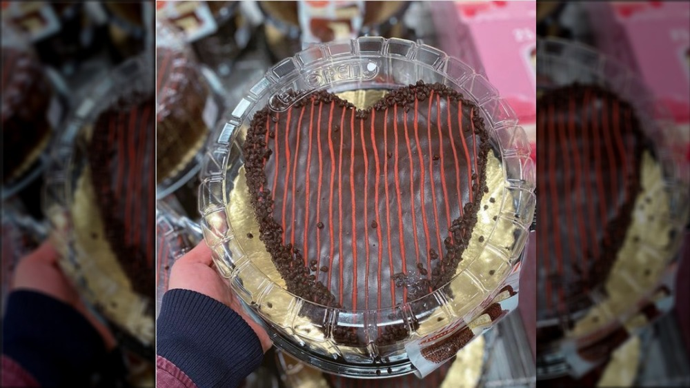 Costco heart-shaped Valentine's cake