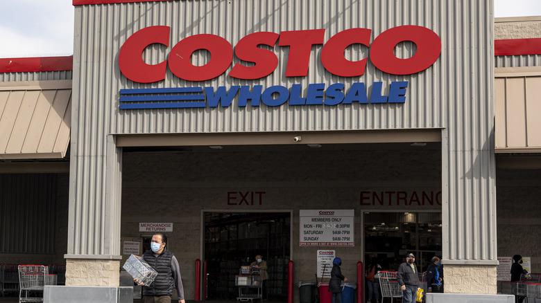 Costco shopper leaves store