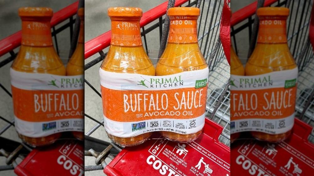 Buffalo sauce in shopping cart